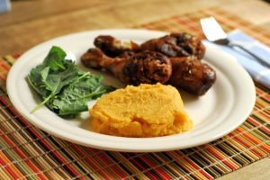 Cauliflower and Carrot Puree from A Duck's Oven. A filling and healthy side dish that's very easy to make!