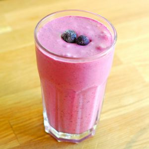 This Berry Coconut Cream Smoothie from A Duck's Oven is so much better than a bowl of cereal!