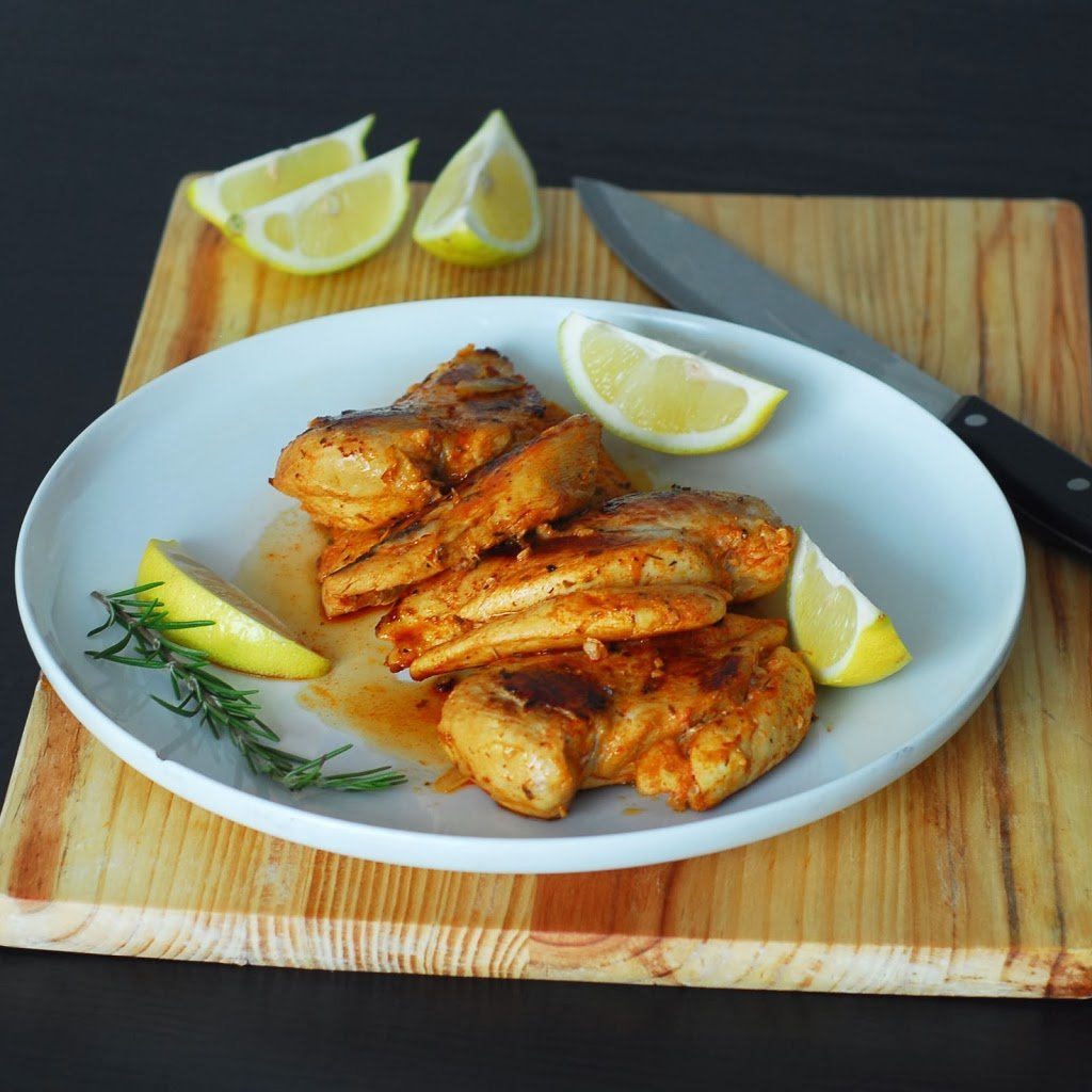 Peri Peri Chicken from A Duck's Oven. Peri peri chicken is a South African favorite. Chicken breasts soaked in a spicy, citrusy marinade and then grilled or broiled!