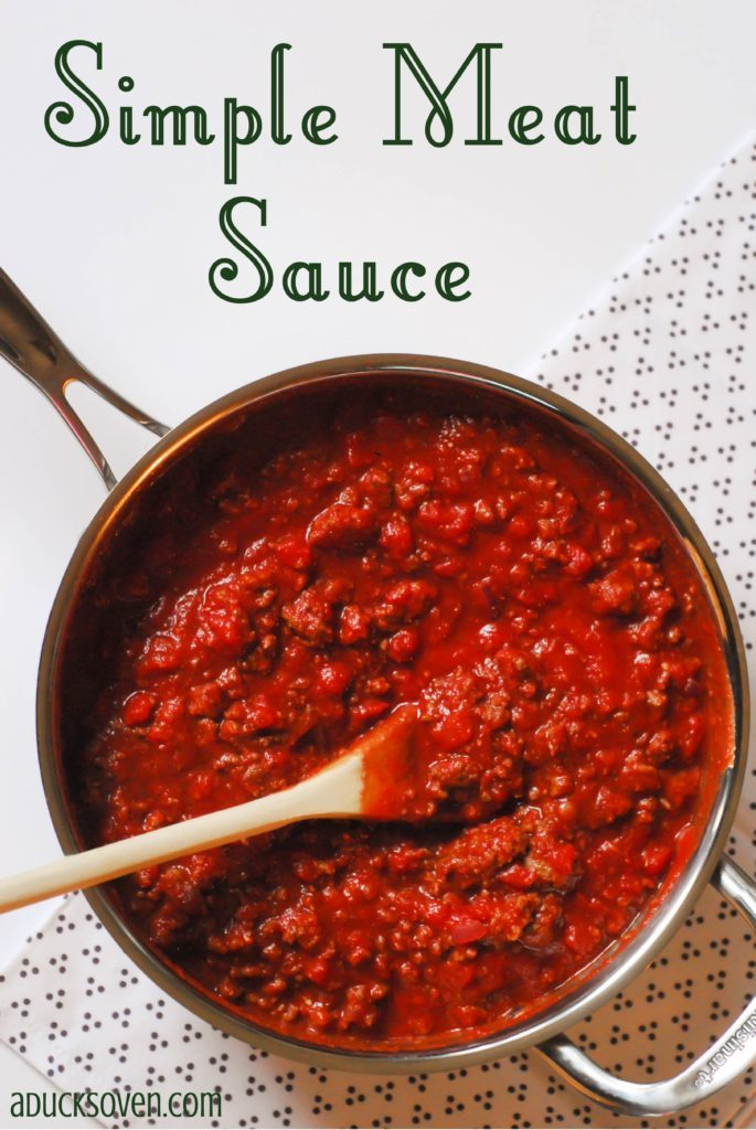 Simple Meat Sauce from A Duck's Oven. Instructions on how to make a delicious, simple meat sauce for pasta or whatever you please!