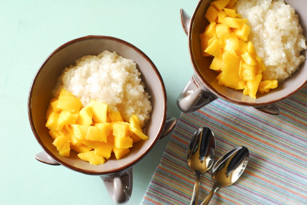 Thai Mango Sticky Rice from A Duck's Oven.