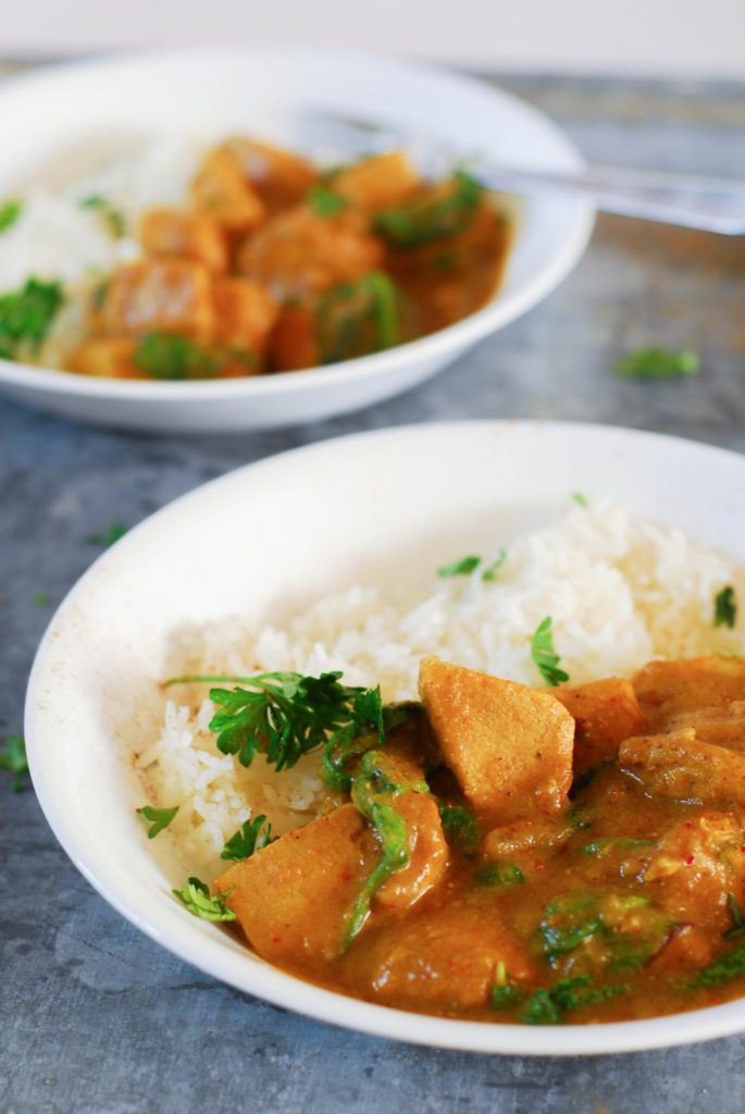 Pumpkin Spice Chicken Curry from A Duck's Oven