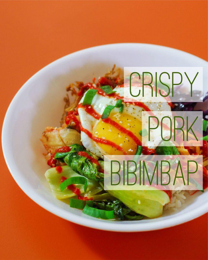 Crispy Pork Bibimbap from A Duck's Oven