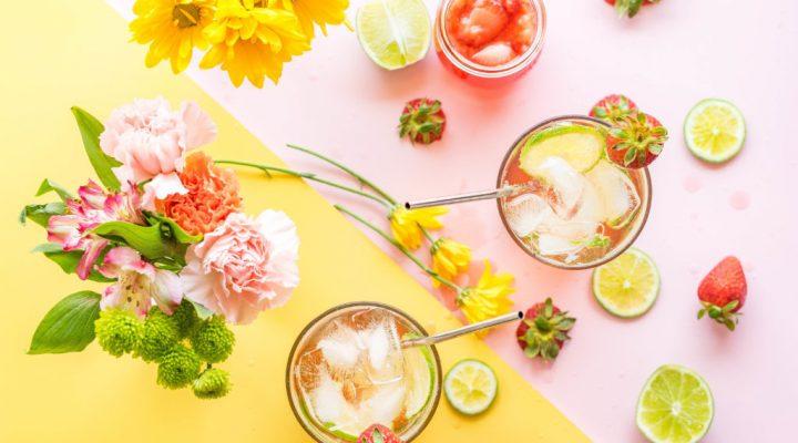 Boozy Strawberry Lime Soda