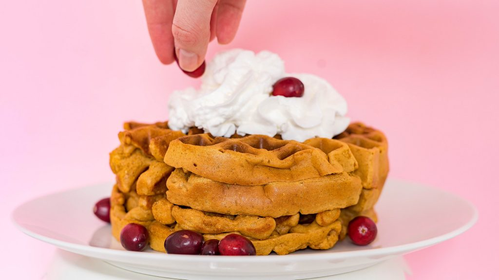 Easy Gingerbread Waffles from A Duck's Oven