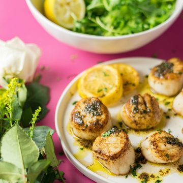 Sous Vide Scallops from A Duck's Oven