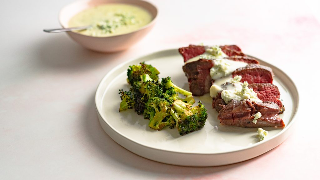 Sous Vide Filet Mignon with Blue Cheese Gravy - A Duck's Oven