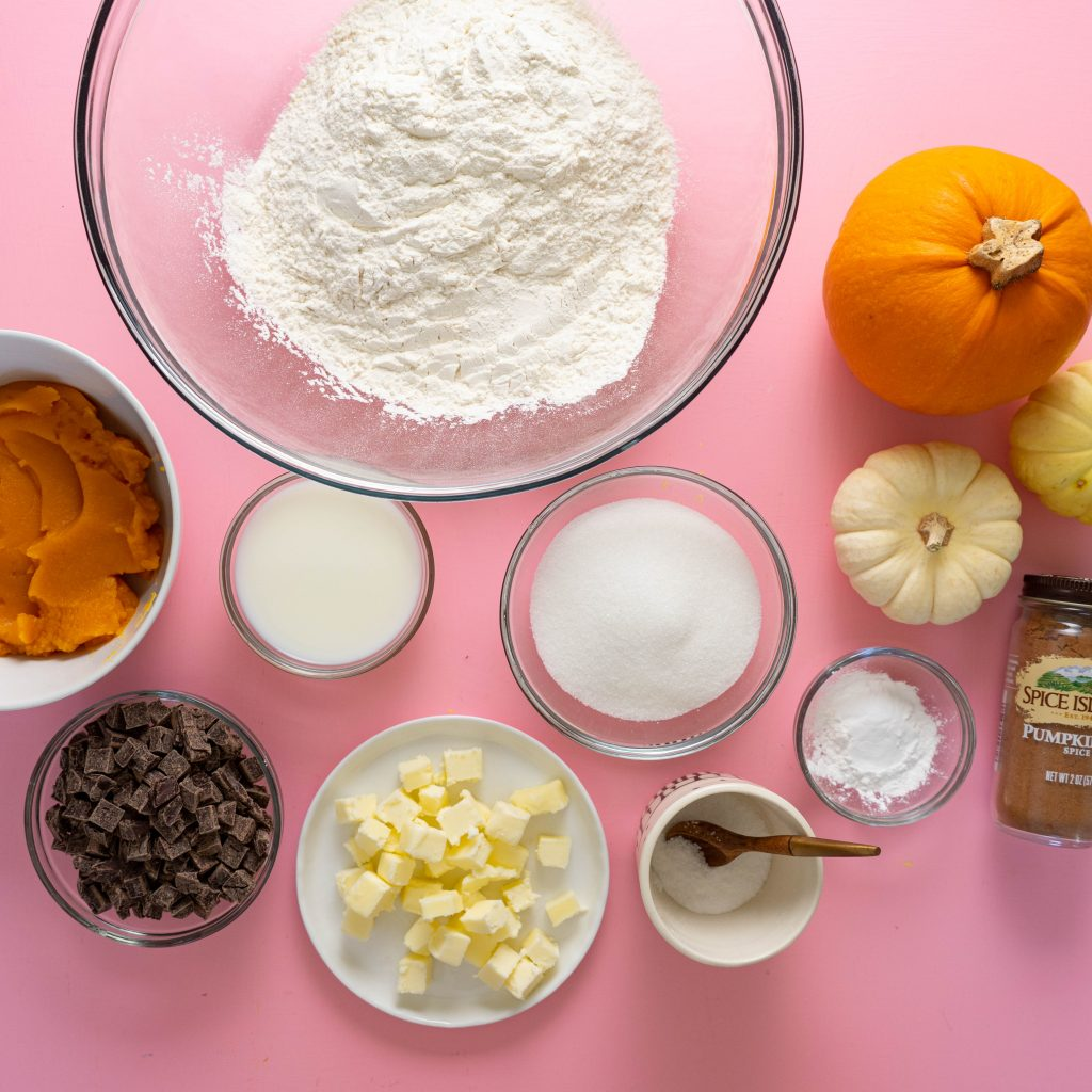 Ingredients for pumpkin scones