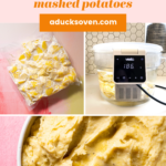 Pin for sous vide mashed potatoes